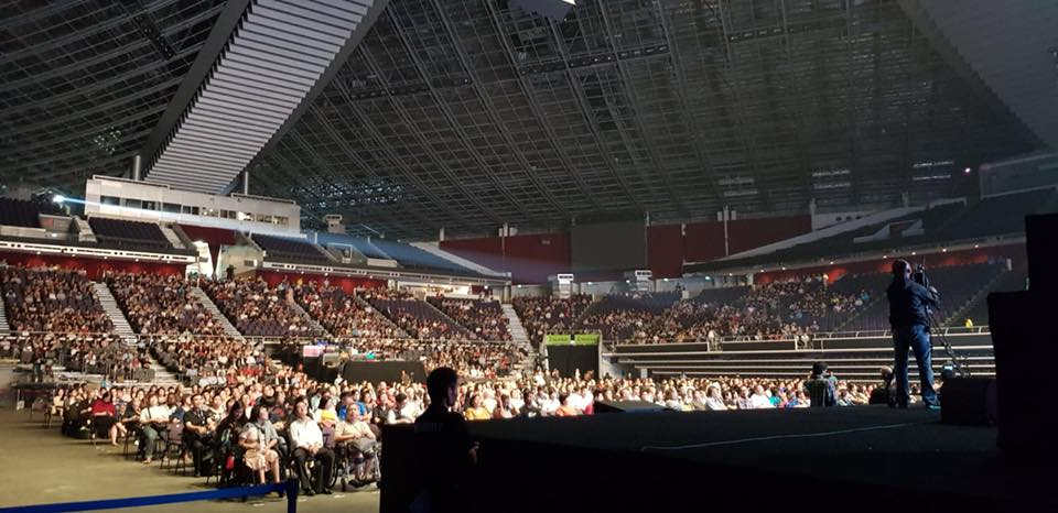 Audience at our performance in Singapore National Stadium