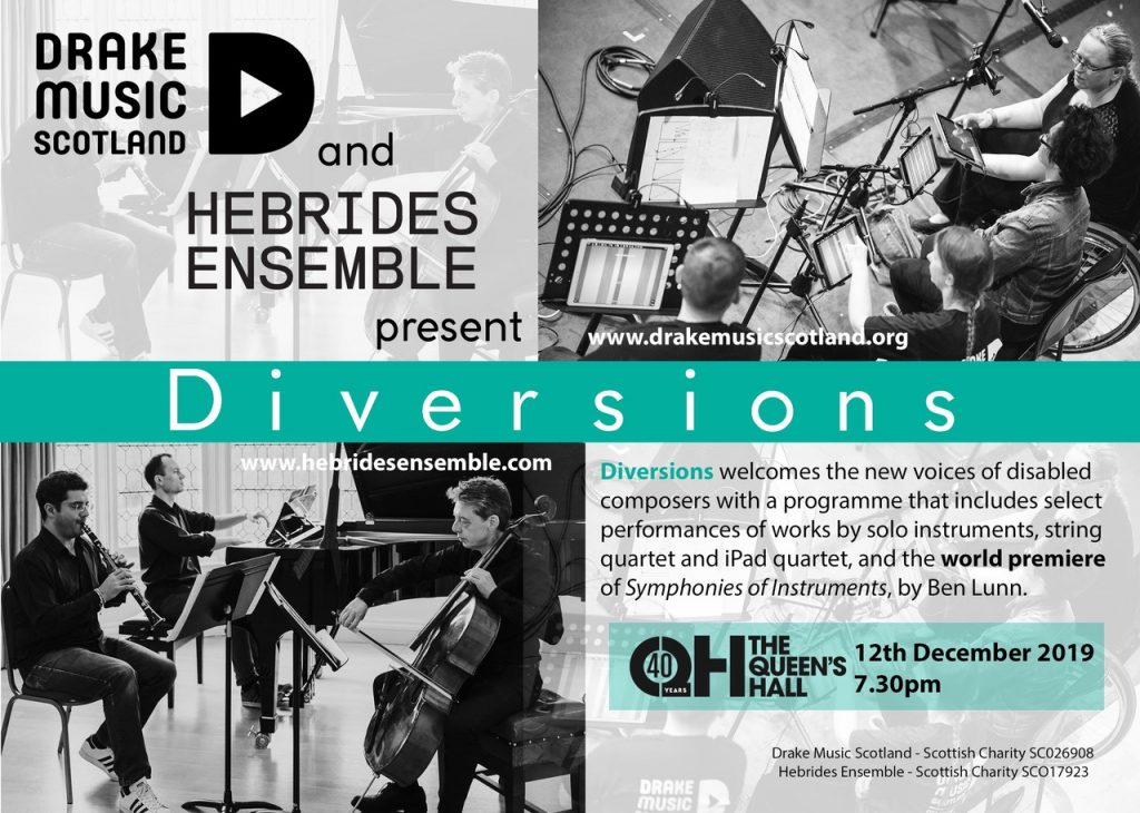 Flyer for diversions concert