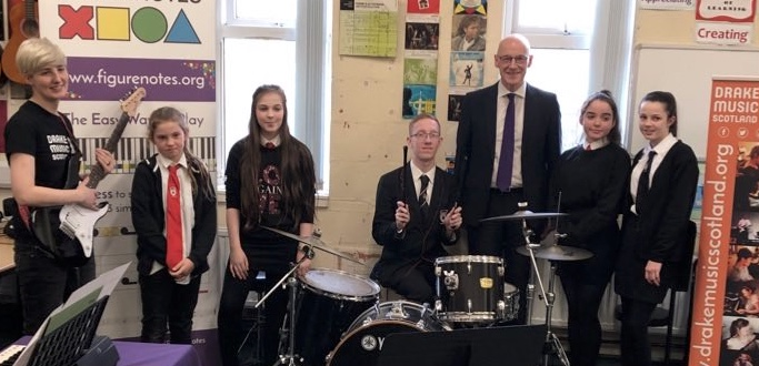 John Swinney visits our Figurenotes project
