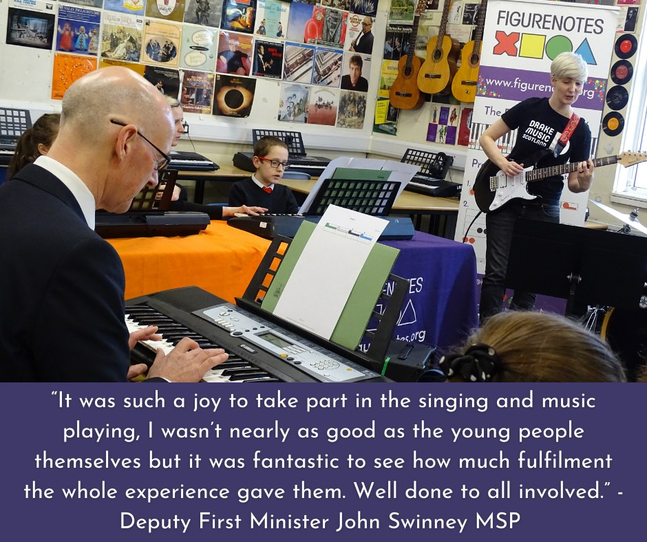 DFM John Swinney visit to our Figurenotes Project with Castlebrae