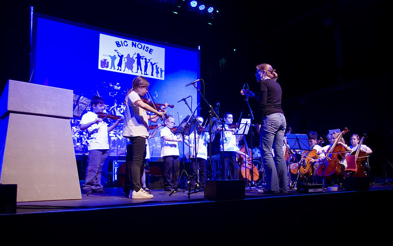 Young learners from Sistema Scotland's Big Noise