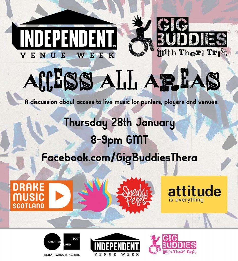 Gig Buddies event poster